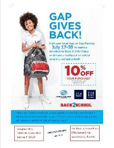 gap gives back